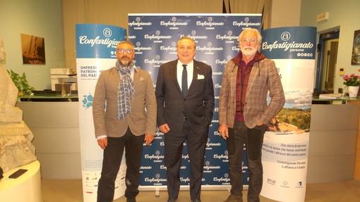 Presidenza Zonale – La presidenza zonale. Da sinistra: Massimo Gianoglio (vicepresidente), Clemente Malvino (presidente), Sergio Cravero (vicepresidente vicario)