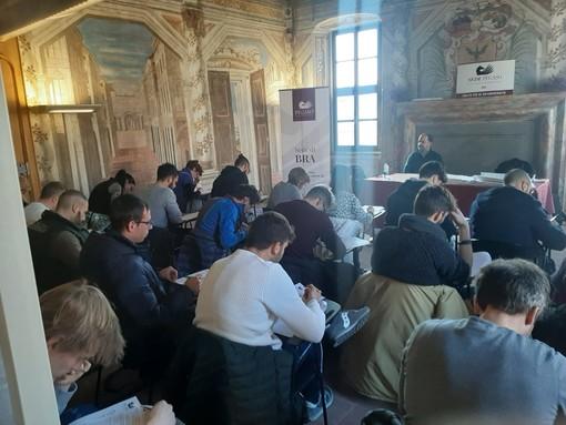 Prove d'esame nella sede di Palazzo Mathis a Bra