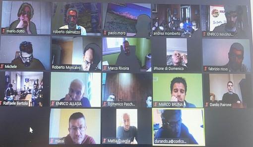 I partecipanti all'ultima videoconferenza del Tavolo di confronto
