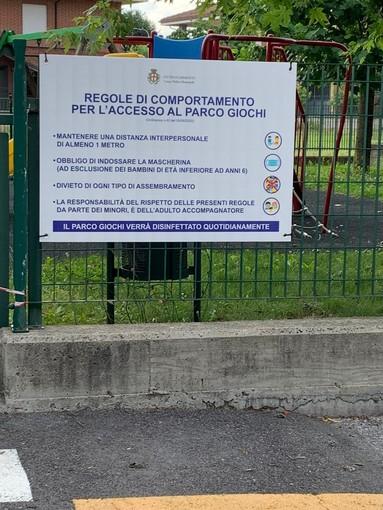 Da sabato 13 giugno Cherasco riapre parchi gioco per bambini, giardini e aree verdi