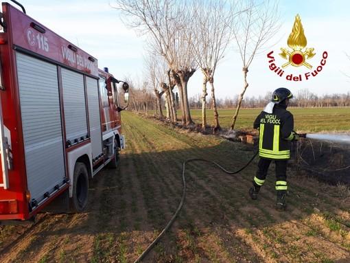 I Vigili del fuoco al lavoro a Passatore