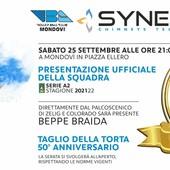 Volley A2/M: il Vbc Synergy Mondovì questa sera in piazza per presentare la squadra e festeggiare mezzo secolo di storia