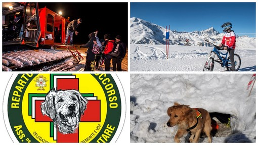 Pian Munè di Paesana: Mtb sulla neve e dimostrazione cani da soccorso