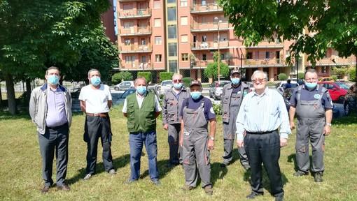 Mondovì: Alpini mettono in ordine l'area sportiva della parrocchia del rione Altipiano