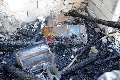 Il locale distrutto dall'incendio dello scorso ottobre