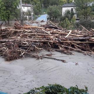 Un'immagine dell'alluvione di ottobre 2020