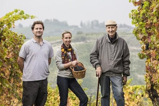 Beppe Colla con la figlia Federica e il nipote Pietro (dal sito web dell'azienda)