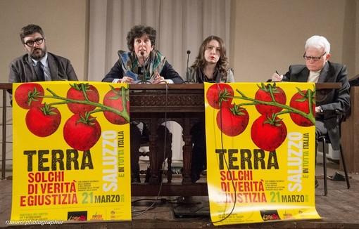 Saluzzo, la presentazione della manifestazione di Libera Piemonte mercoledì 21 marzo- foto Mauro Piovano