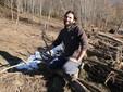 Gli alberi abbattuti per far posto al nuovo campo di patate