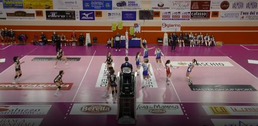 Un momento del match tra Eurospin Pinerolo e Futura Giovani Volley Busto Arsizio
