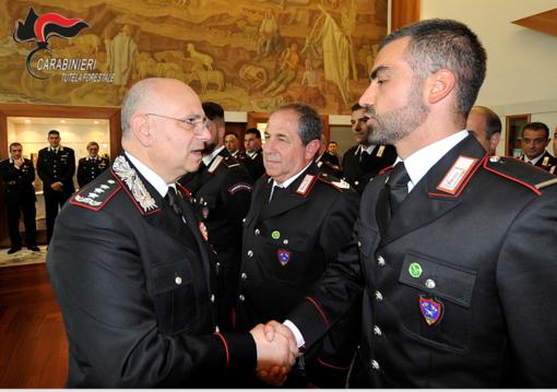 Carabinieri Forestali da Mondovì a Roma per il compiacimento del generale Agovino