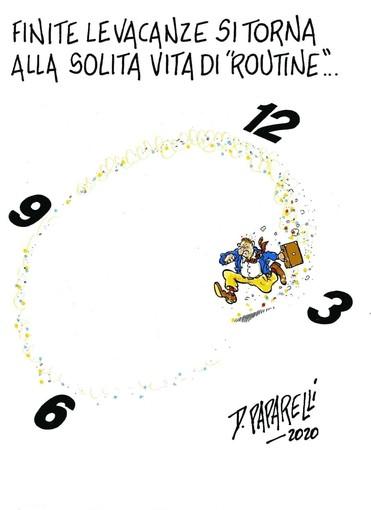 Le post ferie… La vignetta di Danilo Paparelli