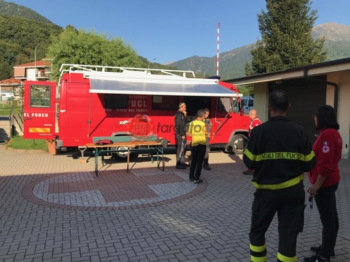 Il centro di coordinamento alla Croce rossa di Paesana