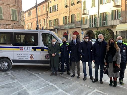 Protezione Civile di Fossano: presentato alla città il nuovo mezzo, in un 2020 che li ha visti protagonisti (FOTO)