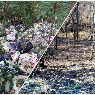 Nelle immagini, l'area prima e dopo l'intervento di bonifica