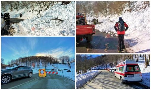 La Provincia al lavoro per ripulire la Paesana-Pian Munè dalle slavine e dalla neve portata dal forte vento (FOTO e VIDEO)