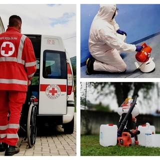 I volontari della Croce rossa in servizio per il referendum
