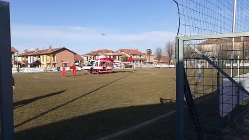 L'elicottero atterrato poco fa a Cussanio