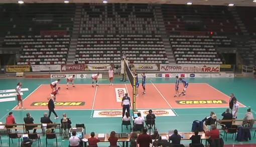 Un'immagine del match
