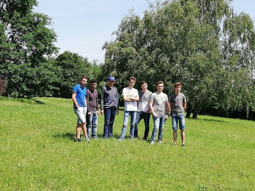 Verzuolo, allievi della V B dell'istituto agrario