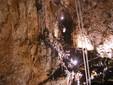 La scalinata di accesso alla Grotta Gigante