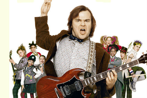 "La locandina di ""School of rock"""