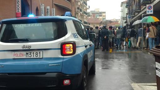 Un'immagine della protesta di ieri pomeriggio (lunedì)