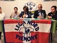 La conferenza stampa Lega Nord: da sinistra Demarchi, Gastaldi, Andreis, Bergesio, Tesio