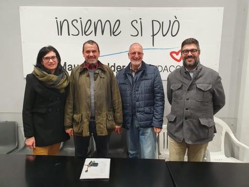 Da sinistra, Cristina Mussetto, Carlo Ravazzi, Gigi Bollati ed il sindaco Mauro Calderoni