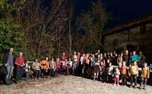 Il gruppo completo dalla panchina gigante a San Giovanni