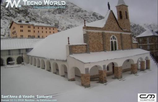 Il santuario di Sant'Anna stamattina 11 novembre