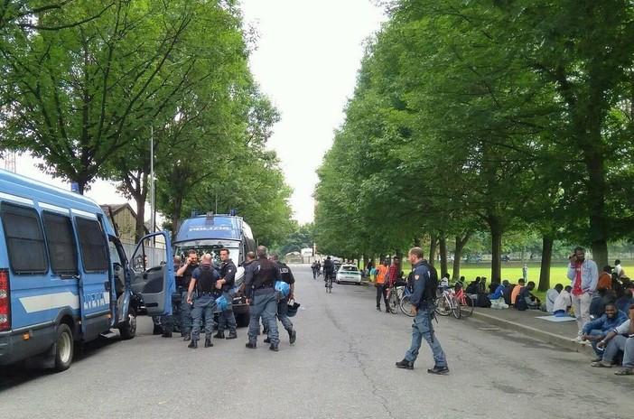 Al Foro Boario di Saluzzo sono tornati i Reparti Mobili della Polizia di Stato - FOTO MAURO PIOVANO