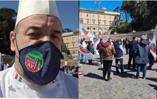 Silvio Bessone e la manifestazione a Roma