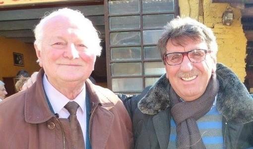 Secondo Gallizio e Piero Montanaro in uno scatto pubblicato dal cantante sulla sua pagina Facebook