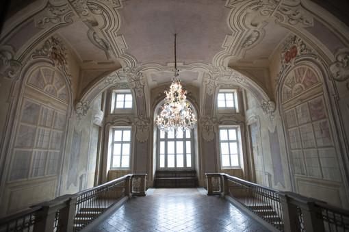 Lo scalone del castello di Guarene
