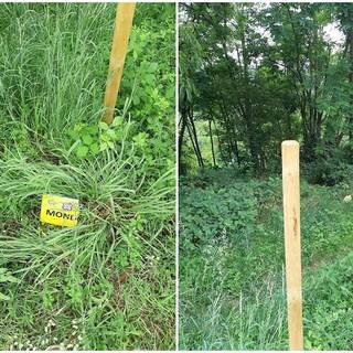 Atto vandalico sul sentiero Landandé: paline spostate e cartelli spezzati