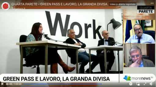 Il green pass obbligatorio per lavorare: il tema al centro di Quarta Parete [RIVEDI LA PUNTATA]
