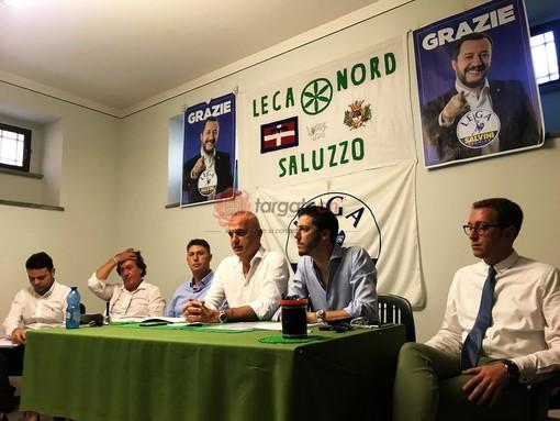 La conferenza stampa Lega di stamane a Saluzzo
