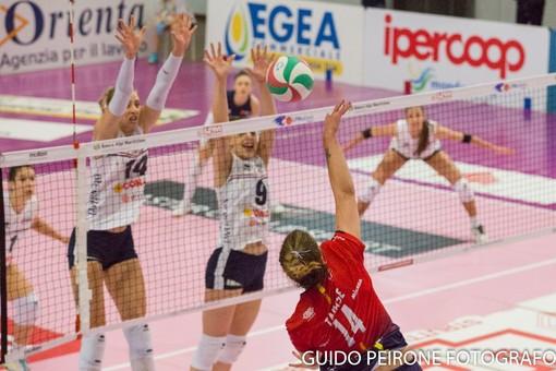 Una immagine del match tra Mondovì e Ravenna (foto Guido Peirone)