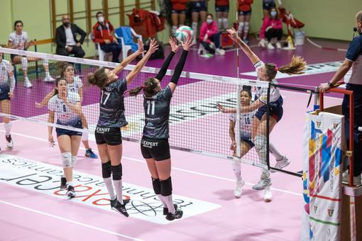 Un'immagine del match giocato all'andata (foto Ufficio stampa Pallavolo Montale)