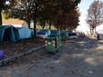 Saluzzo, la situazione questa mattina alla tendopoli migranti al Foro  Boario: in atto lo smontaggio