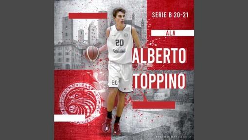 Basket, serie B: Alberto Toppino in prima squadra all'Olimpo Basket Alba dopo una sorprendente C Gold
