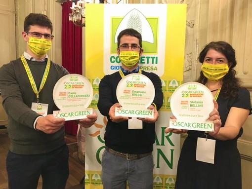 Coldiretti Cuneo: tre giovani imprenditori cuneesi sul podio regionale degli Oscar Green 2020