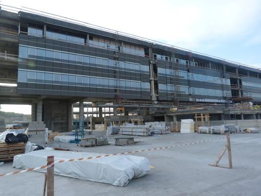 Il costruendo ospedale di Verduno
