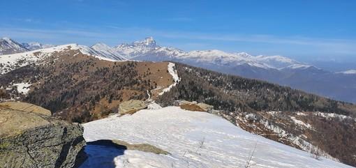 La vista dal monte Roccerè