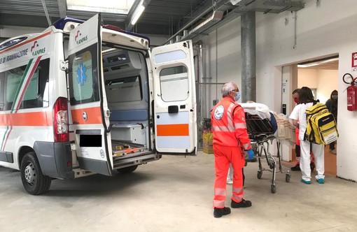 L'arrivo dei primi pazienti non Covid all'ospedale di Verduno