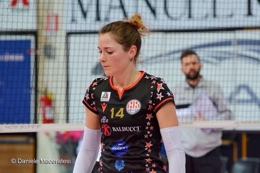 Veronica Taborelli con la maglia della Roana Macerata (Foto Daniele Maceratesi)