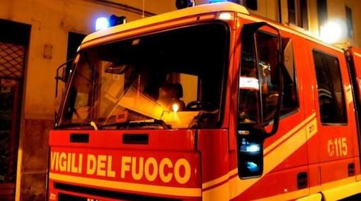 Incendio camino a Savigliano in frazione Mellea