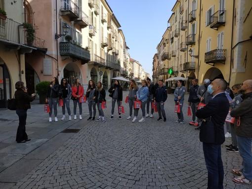 """Volley A1, le """"gatte"""" del Bosca San Bernardo Cuneo alla scoperta del capoluogo in un secondo tour guidato (FOTO)"""
