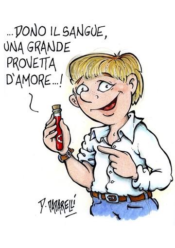 Oggi è il Word Blood Donor Day: la vignetta di Paparelli